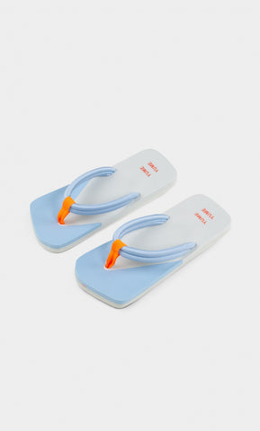 Xigy Flip Flop in Glacier Grey, Cerulean and Orange