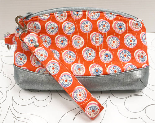 Clematis Wristlet - Orange Spools