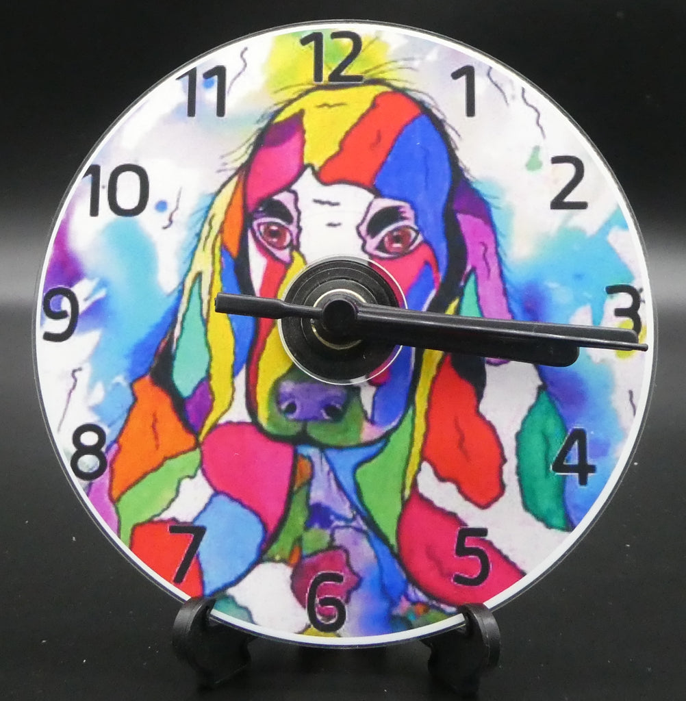 Novelty clock featuring the Image from the painting of a true friend