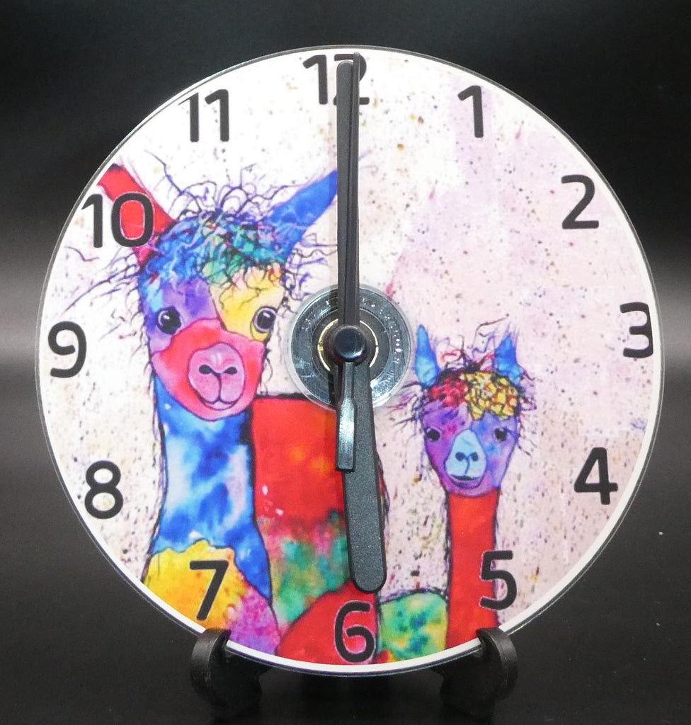 Novelty clock featuring the Image from the painting of cuteness