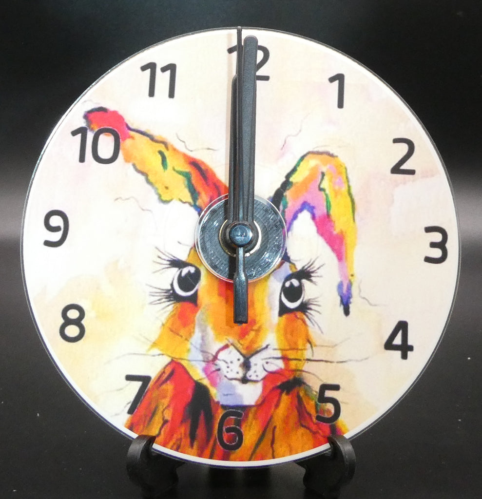 Novelty clock featuring the image of Flo