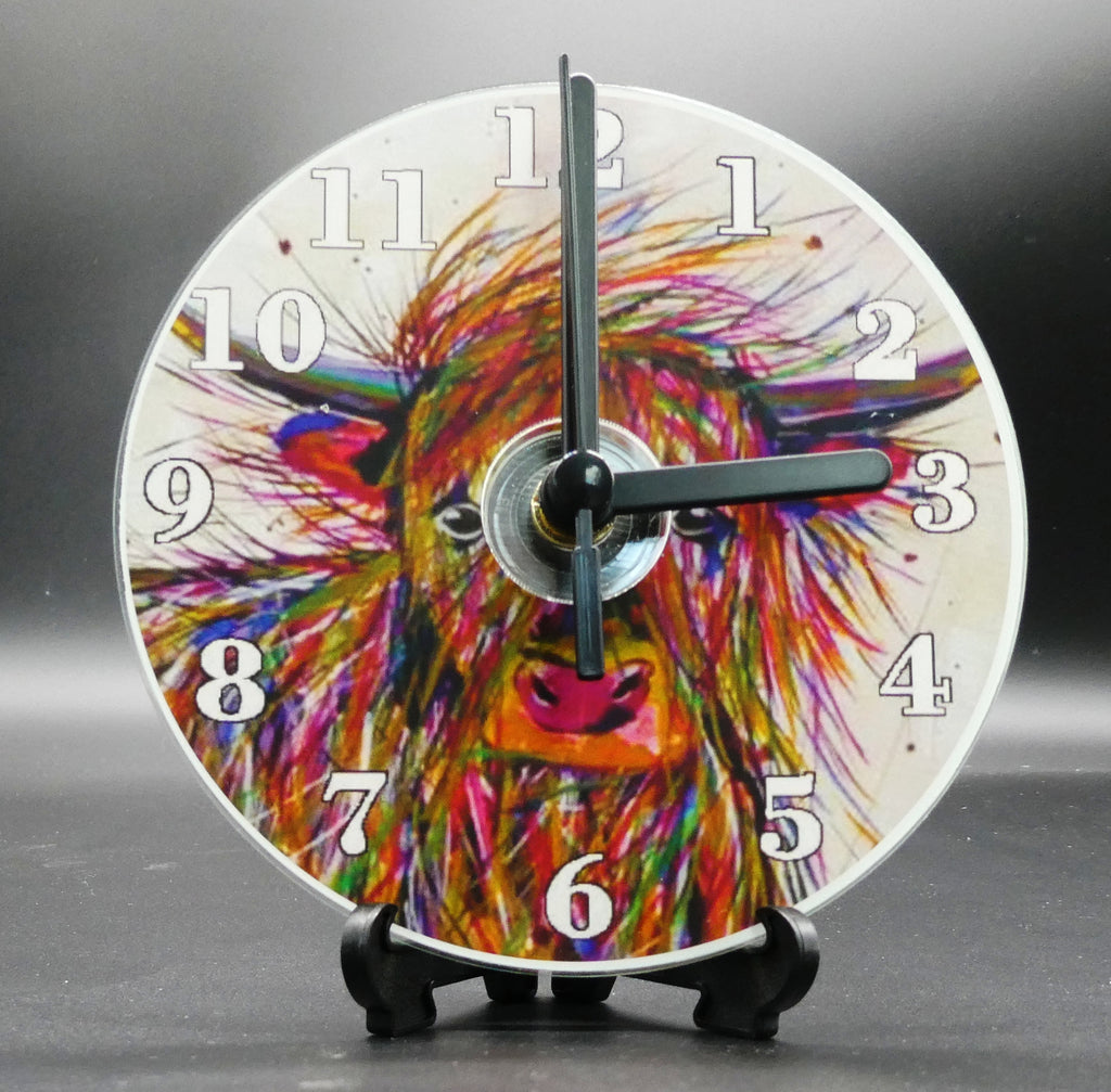 Novelty clock featuring the Image from the painting of Donald