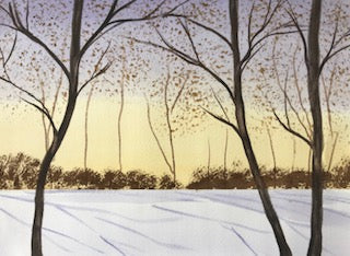 Winter scene - (original) / prints available (SOLD)