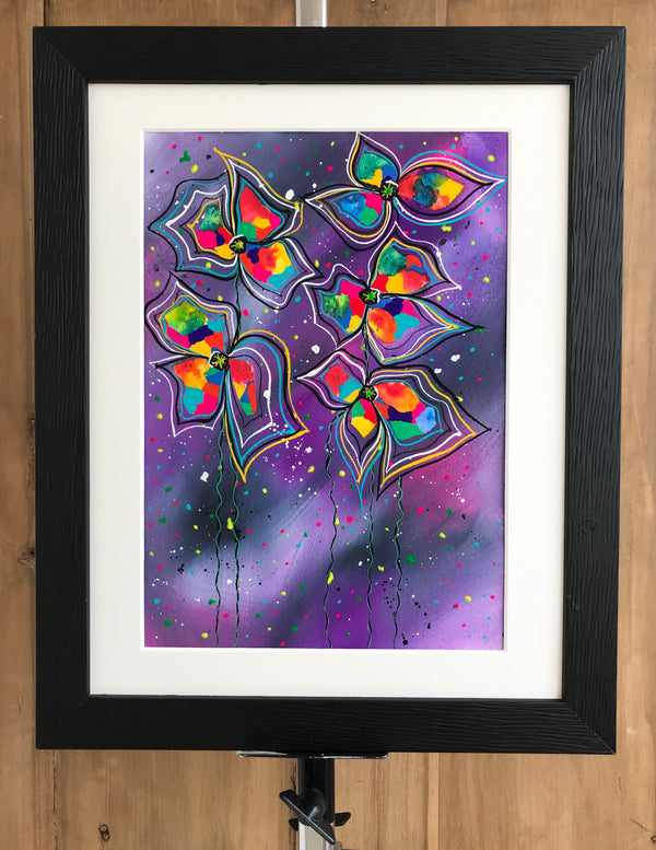 Dancing in the rain - original (framed) / prints available