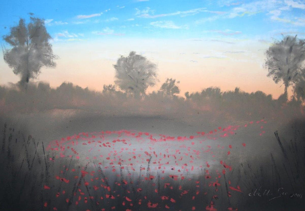 Poppies in the mist - limited edition