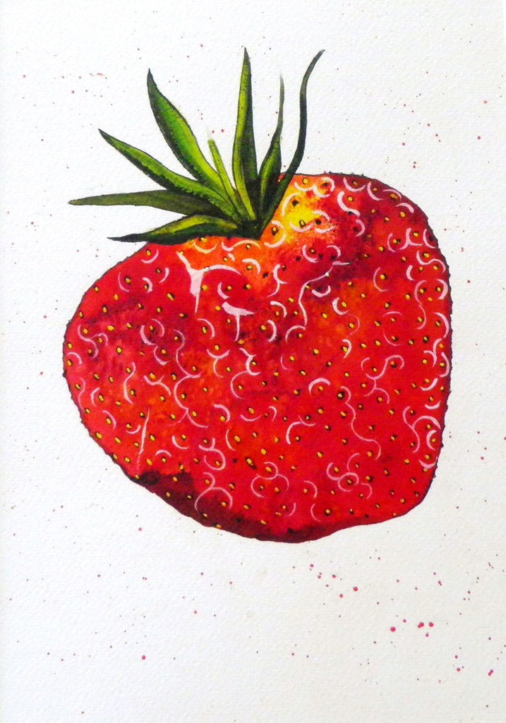 Strawberrylicious - original (framed) / prints available