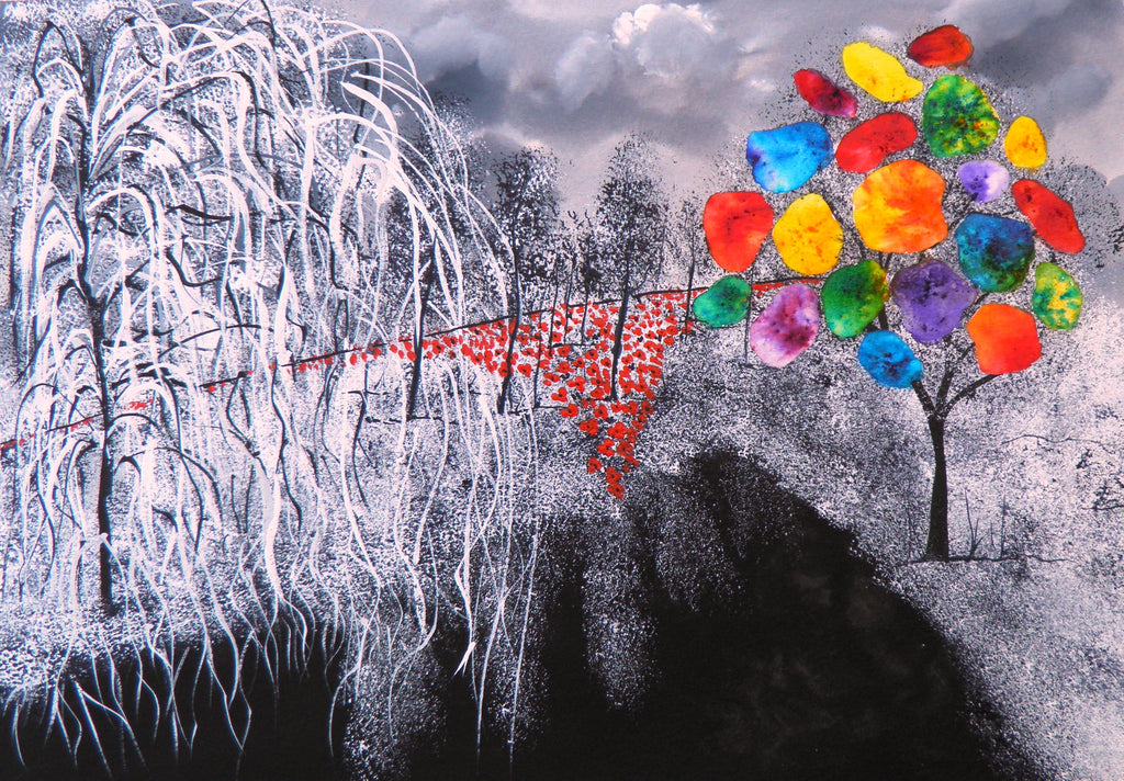 Willow and poppies - limited edition