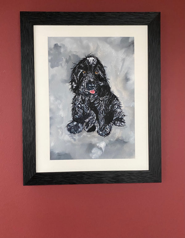 Hello, you old cocker - original (framed) / prints available