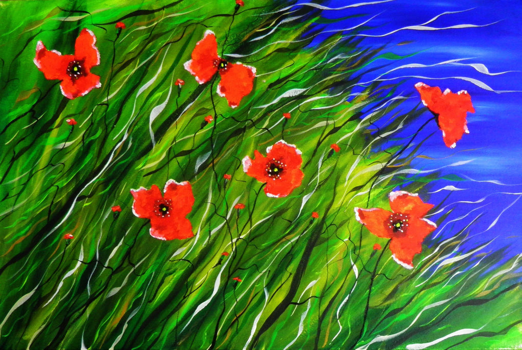 Where flowers bloom - original (acrylic on boxed canvas) / prints also available