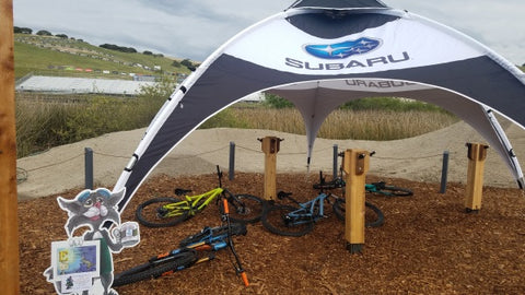 Subaru booth at Sea Otter Classic