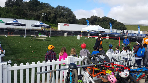 Specialized bicycles kids easter egg hunt at the Sea Otter Classic
