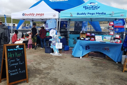 Buddy Pegs booth at the Sea Otter Classic
