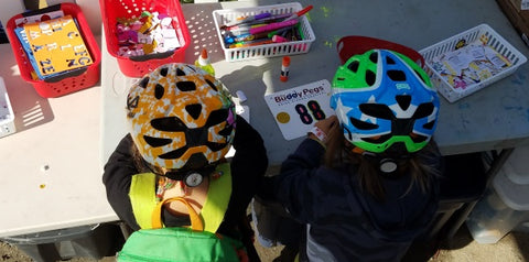 Decorate your own number plate at the Sea Otter Classic