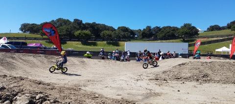 Specialized kids bicycle pump track at the Sea Otter Classic