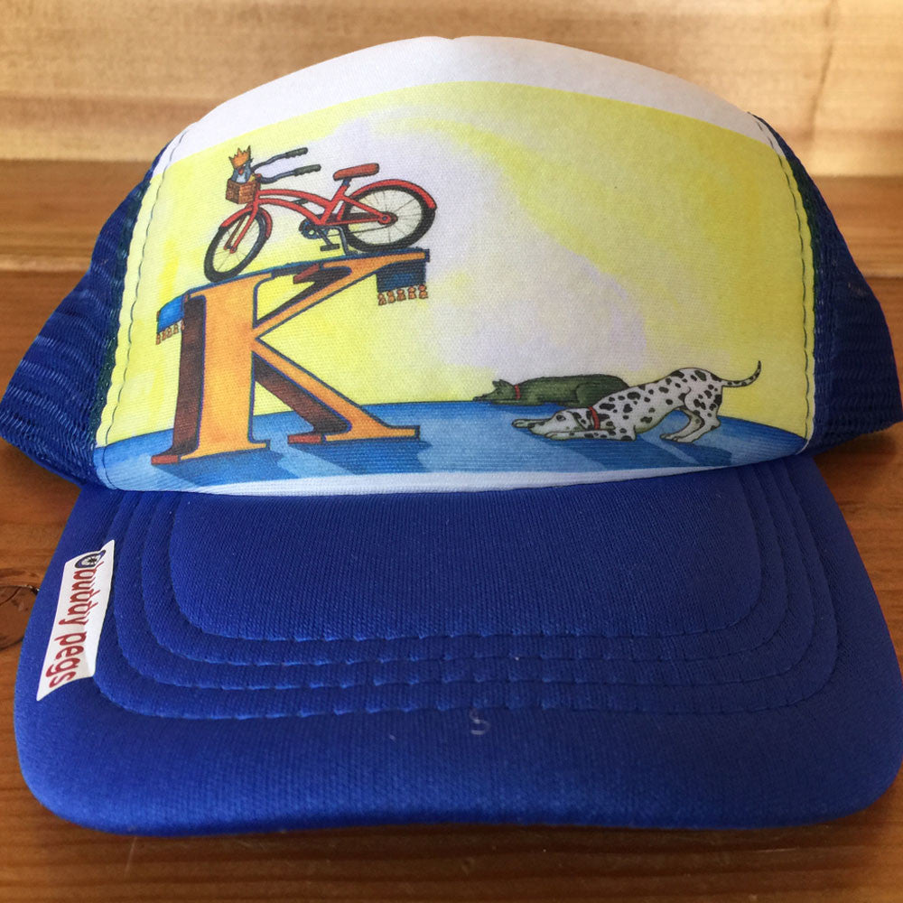 K is for Kickstand Trucker Hat - Print