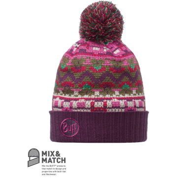 KNITTED HAT-IDRISS PLUM
