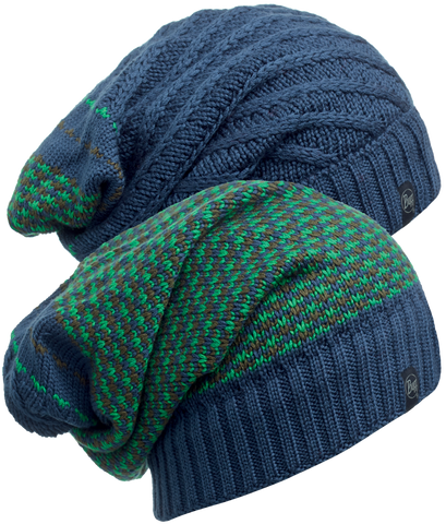 KNITTED NECKWARMER HAT BUFF® ZILE BLUE