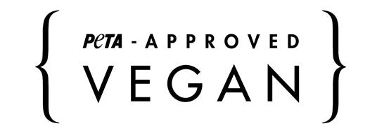 We are proud to be PETA-Approved Vegan!