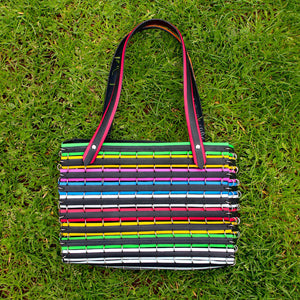 Behold the Rainbow Tyre Handbag!