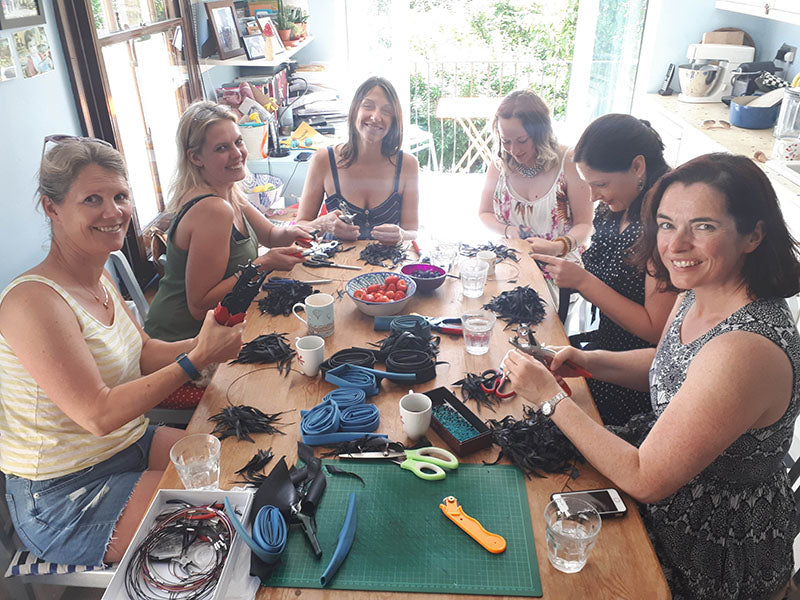 upcycled jewellery making workshop by london laura zabo