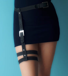 Vegan Garter Leg Harness