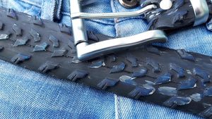 bike tyre belt by Laura Zabo