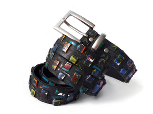 handmade vegan vegetarian belt by Laura Zabo