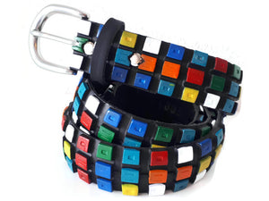 Bicycle tyre belt like Rubik's cube by Laura Zabo