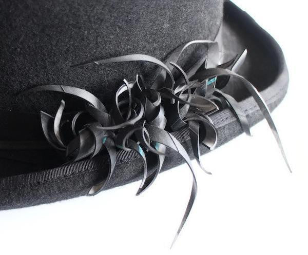 upcycled top hat laura zabo