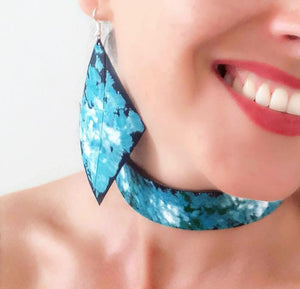 Handmade Upcycled earrings and choker by Laura Zabo