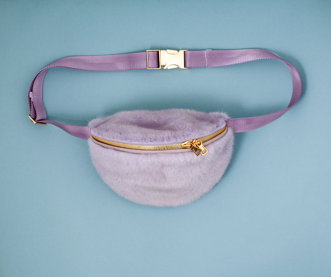PURPLE MINK BUMBAG