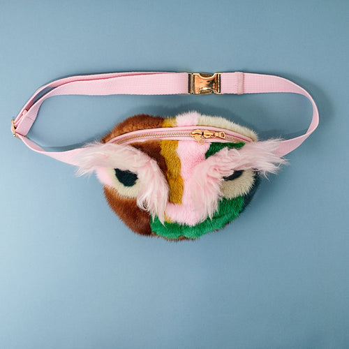 OWL MINK AND SHEARLING BUMBAG