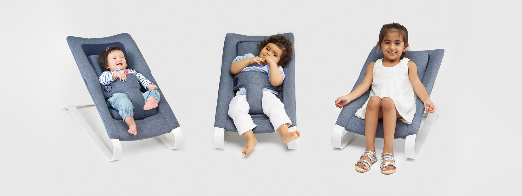 Bombol baby bouncer 3 configurations with kids