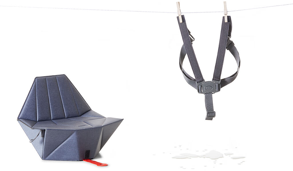 Bombol Foldable Pop-Up booster safety harness detached