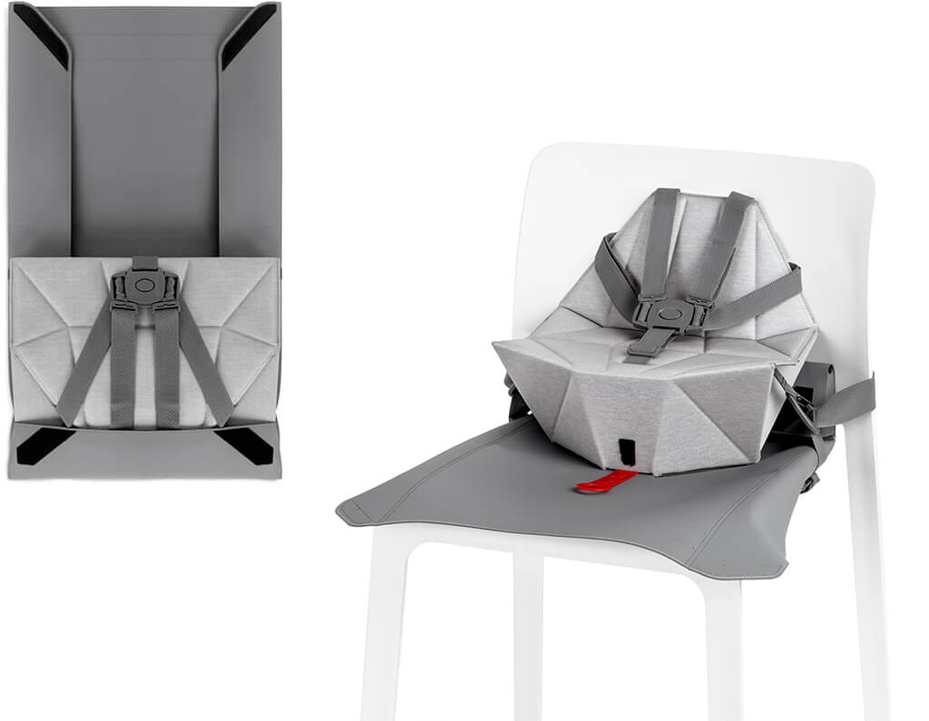 Bombol Foldable Pop-Up booster with seat cover and bag
