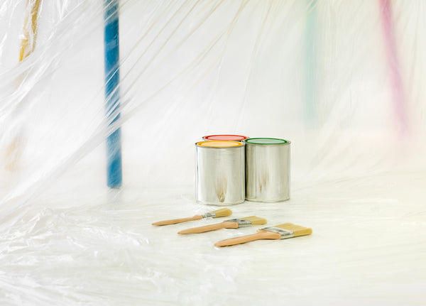 Paint Buckets and brushes