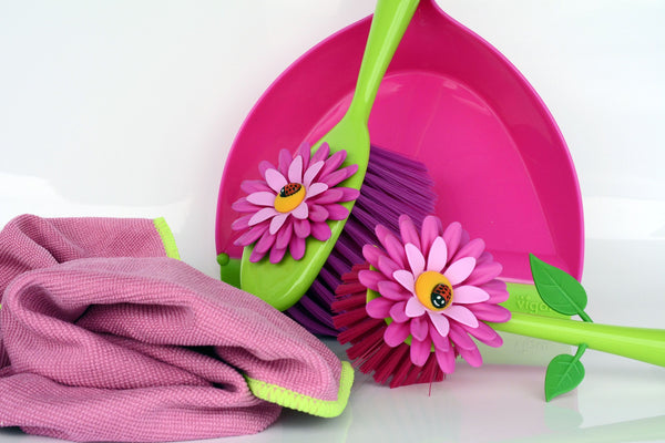 Cleaning Tools with Flowers