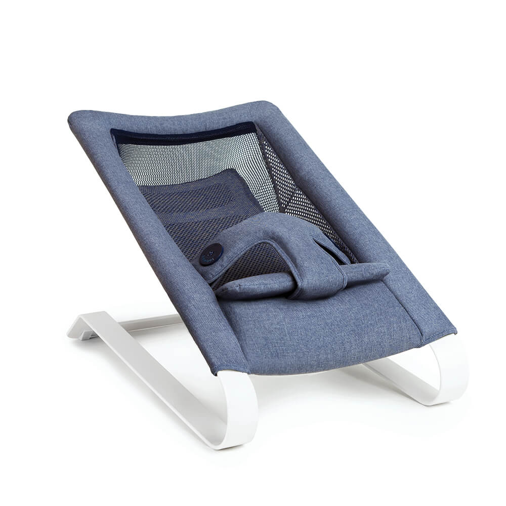 Bombol Bamboo 3Dknit baby bouncer Denim Blue rest