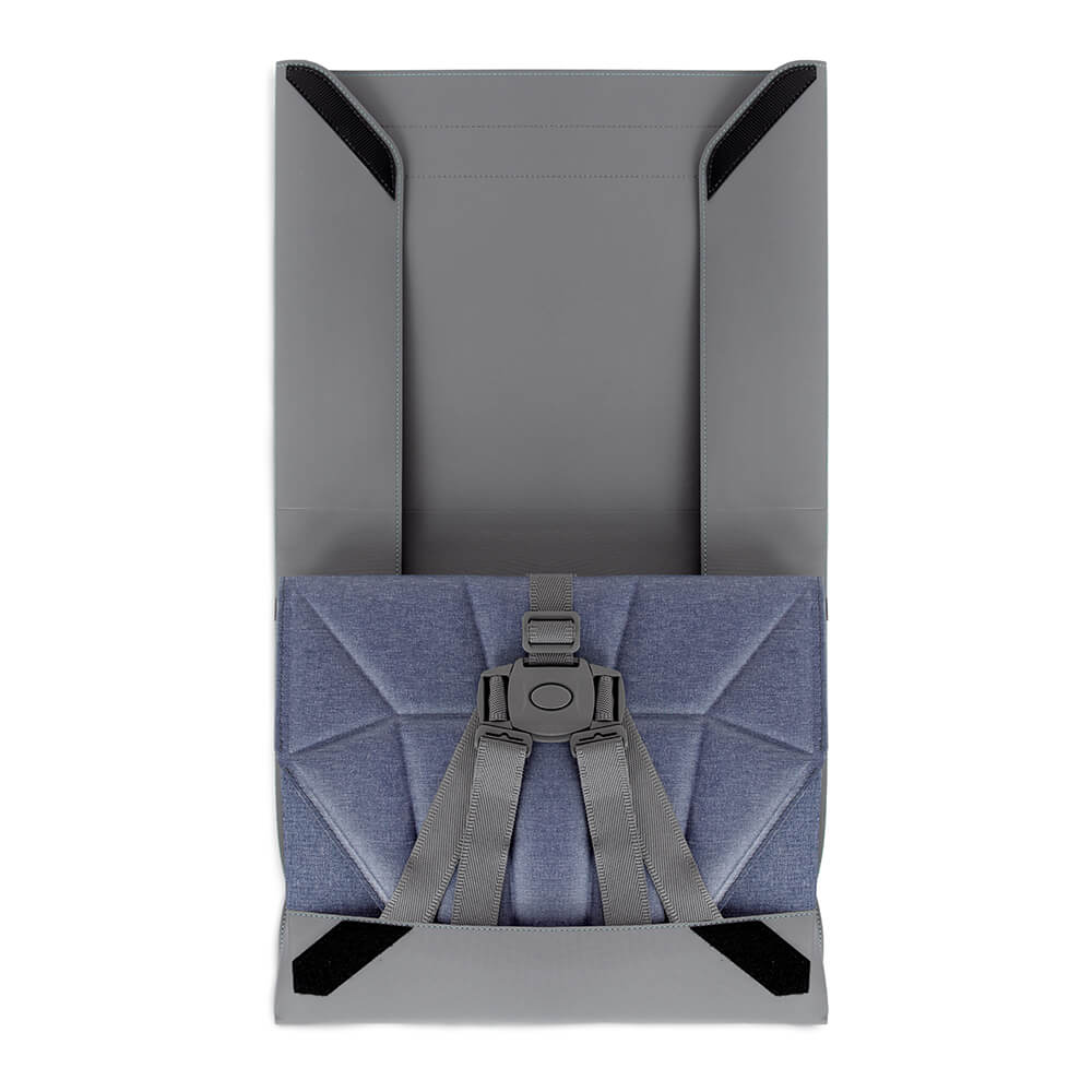 Double function Carry Bag and Seat Cover for Foldable Denim Blue Pop-Up Booster