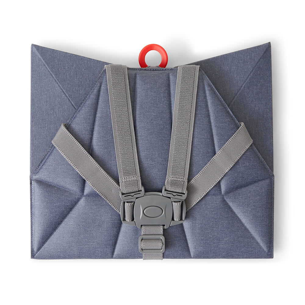 Foldable Denim Blue Pop-Up booster Flat