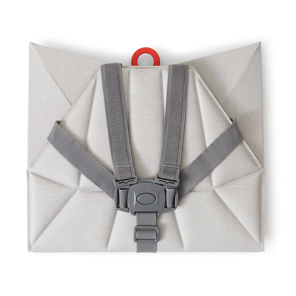 Foldable Pebble Grey Pop-Up booster Flat