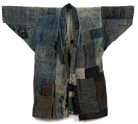 Boro Noragi - Thick, Layered, Weathered Indigo Cottons