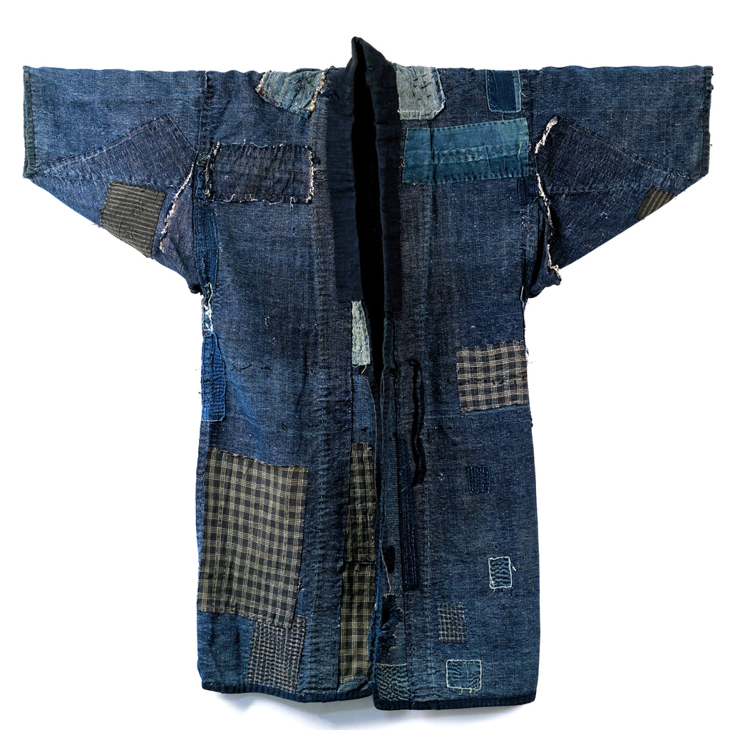 Boro Noragi - Meiji-era Indigo Cotton and Hemp Blend