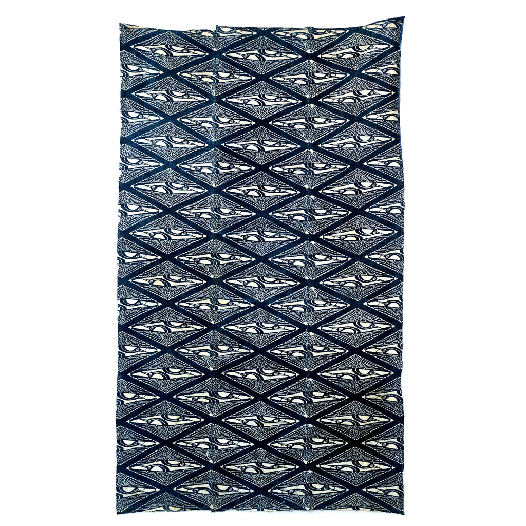 Katazome Futon - Repeating Geometric Cranes