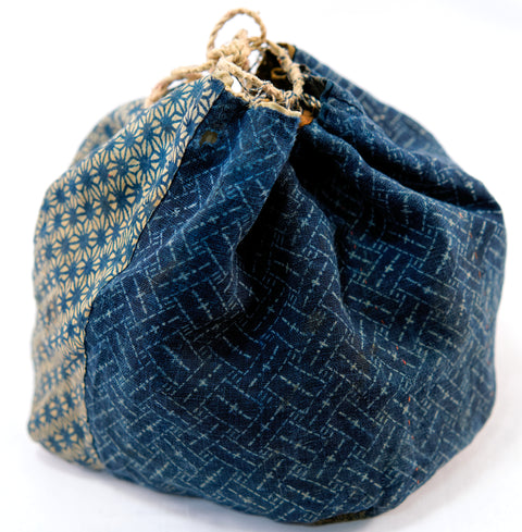 Komebukuro - hemp katazome patchwork bag