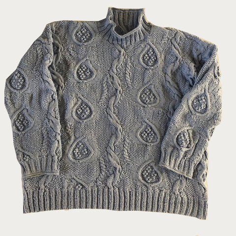 Paisley Jumper designed by Patricia Roberts. Lambswool available from The Knitter's Yarn.