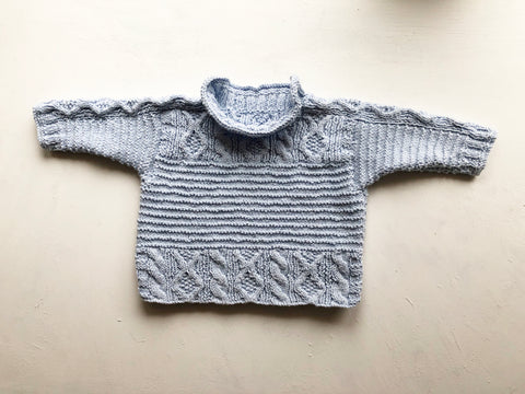 Chesil baby sweater by Patricia Roberts