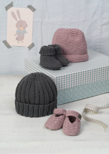 Erika Knight 'Bubble & Squeak' Baby Hats and Booties PDF Pattern - The Knitter's Yarn