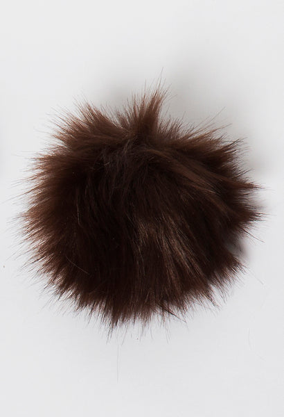 Rowan vegan faux fur pompom in Fox Coffee available from The Knitter's Yarn.