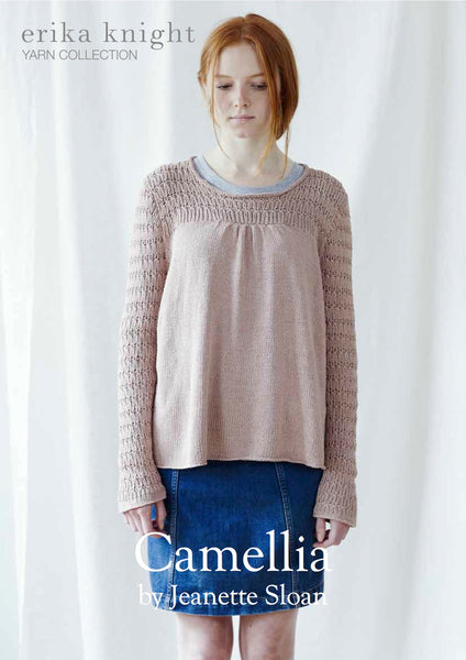 Camellia long sleeved sweater in Erika Knight's Studio Linen
